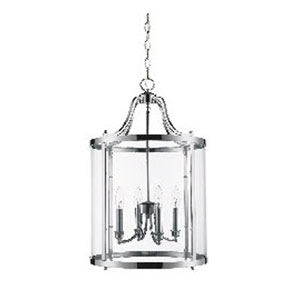 Payton Chrome Four-Light Pendant with Clear Glass