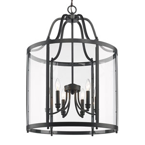Payton Black Six-Light Pendant