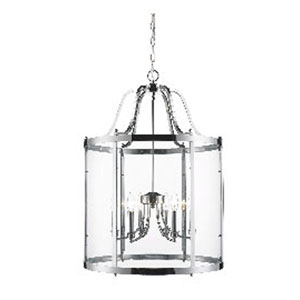 Payton Chrome Six-Light Pendant with Clear Glass