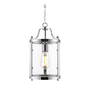 Payton Chrome Mini Pendant with Clear Glass