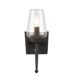 Marcellis Dark Natural Iron One-Light Wall Sconce