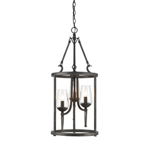 Marcellis Dark Natural Iron Three-Light Pendant