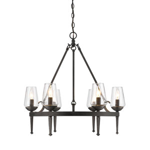 Marcellis Dark Natural Iron Six-Light Chandelier