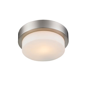 Multi-Family Pewter One Light Flush Mount