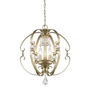 Ella White Gold Three-Light Pendant