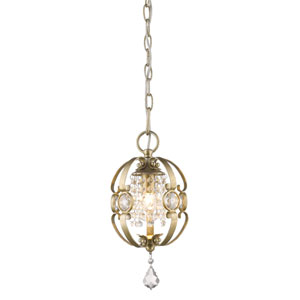 Ella White Gold One-Light Mini Pendant