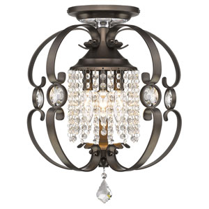 Ella Brushed Etruscan Bronze Three-Light Semi-Flush Mount