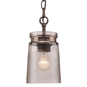 Travers Rubbed Bronze One-Light Mini Pendant