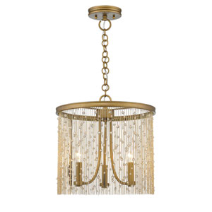 Marilyn Peruvian Gold 15-Inch Three-Light Pendant
