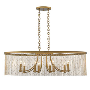 Marilyn Peruvian Gold 38-Inch Eight-Light Linear Pendant