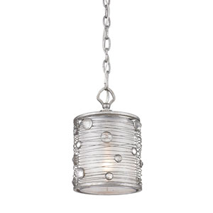 Joia Peruvian Silver Faceted Crystal Mini Pendant