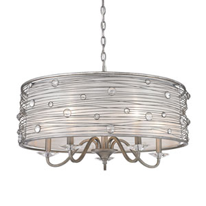 Joia Peruvian Silver Five Light Chandelier