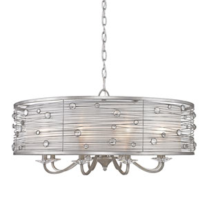 Joia Peruvian Silver Eight Light Chandelier