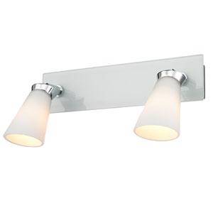 Opera Chrome Two-Light Bath-Fixture