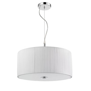 Solal Chrome and White Three-Light Pendant