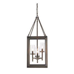 Smyth Gunmetal Bronze Pendant with Clear Glass