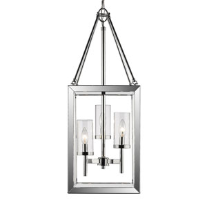 Smyth Chrome Three-Light Pendant with Clear Glass