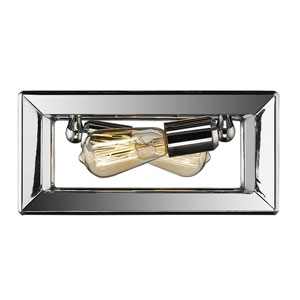 Smyth Chrome Two-Light Flush Mount