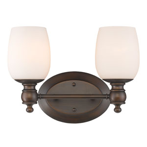 Constance Rubbed Bronze Two-Light Vanity