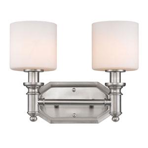 Beckford Pewter Two-Light Vanity