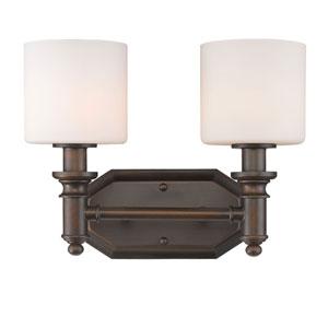Beckford Rubbed Bronze Two-Light Vanity