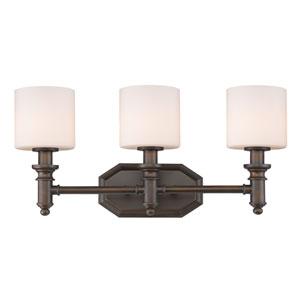 Beckford Rubbed Bronze Three-Light Vanity