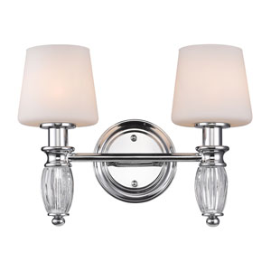 Vanna Chrome Two-Light Vanity