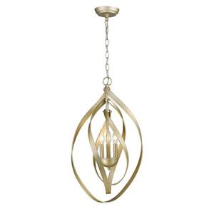 Nicolette White Gold Three-Light Pendant