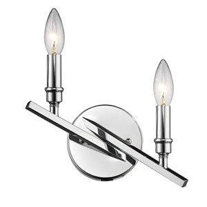 Garvin Chrome Two-Light Wall Sconce