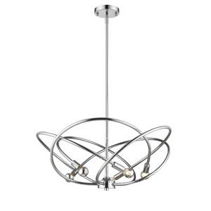 Cosmic Chrome Five-Light Chandelier