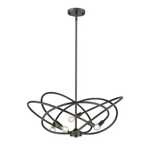 Cosmic Etruscan Bronze Five-Light Chandelier
