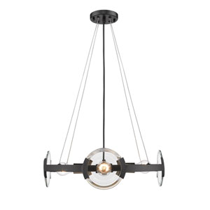 Amari Black Four-Light Chandelier