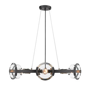 Amari Black Six-Light Chandelier