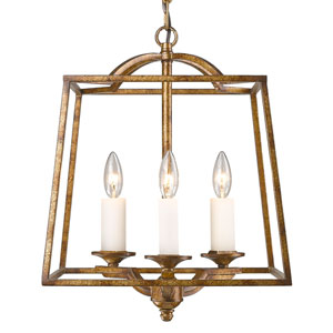 Athena Grecian Gold Three-Light Foyer Pendant