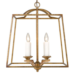 Athena Grecian Gold Four-Light Foyer Pendant