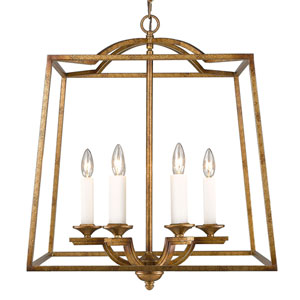 Athena Grecian Gold Six-Light Foyer Pendant