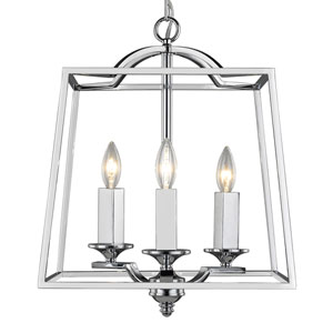 Athena Chrome Three-Light Pendant