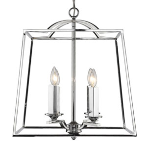 Athena Chrome Four-Light Pendant