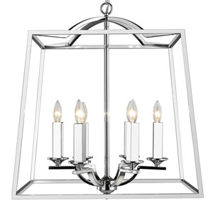 Athena Chrome Six-Light Pendant
