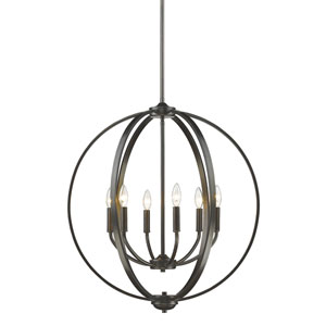 Colson Etruscan Bronze Six-Light Chandelier