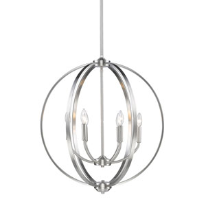 Colson Pewter Six-Light Chandelier