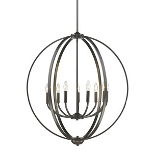 Colson Etruscan Bronze Nine-Light Chandelier