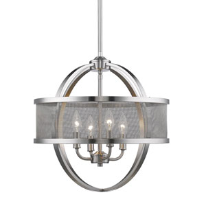 Colson Pewter Four-Light Chandelier
