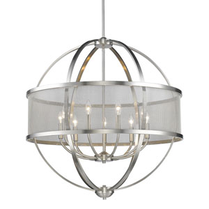 Colson Pewter Nine-Light Chandelier