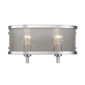 Colson Pewter Two-Light Bath Vanity