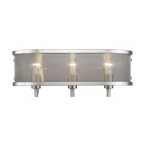 Colson Pewter Three-Light Bath Vanity
