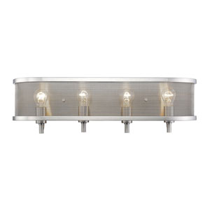 Colson Pewter Four-Light Bath Vanity