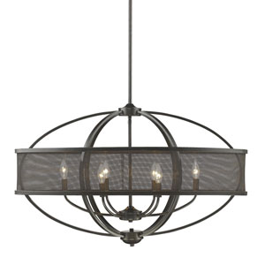 Colson Etruscan Bronze Six-Light Linear Pendant
