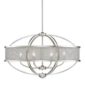 Colson Pewter Six-Light Linear Pendant
