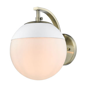 Dixon Aged Brass One-Light Bath Sconce